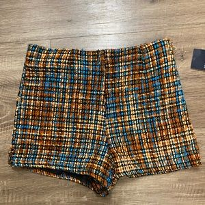 NWT FOREVER21 Tweed Multi-Color Shorts